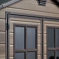 Scala 6x8 Apex Tongue & groove Plastic Shed