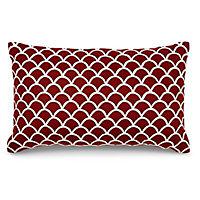Scalloped Cushion, Cinnabar red
