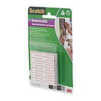 Scotch Grey Double-sided Tape (L)0.01m (W)12.7mm, Pack of 64