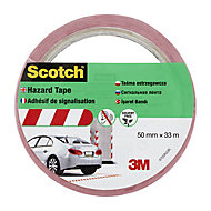 Scotch Red & white Tape (L)33m (W)50mm