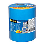 ScotchBlue Blue Masking Tape (L)41m (W)48mm, Pack of 3