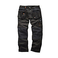 "Scruffs Black Men's Multi-pocket trousers, W34"" L32"""