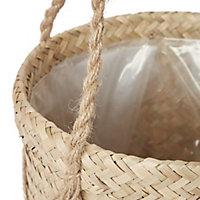 Seagrass Herringbone Plant pot (Dia)20.5cm