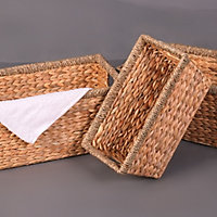 Seagrass & water hyacinth Stackable Storage basket, Set of 3