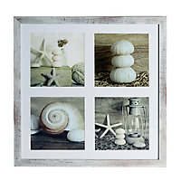 Seashells Brown Framed print (H)400mm (W)400mm