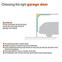 Sectional Garage door, (H)1981mm (W)2286mm