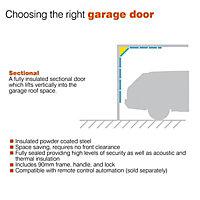 Sectional Garage door, (H)2134mm (W)2438mm