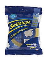 Sellotape Yellow Office Tape (L)50m (W)24mm