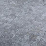 Shaded slate Grey Stone effect Mosaic Porcelain Mosaic tile, (L)305mm (W)305mm