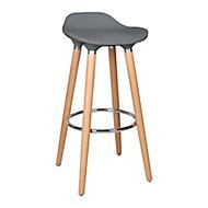 Shira Anthracite Non-adjustable Fixed Bar stool