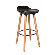 Shira Black Non-adjustable Fixed Bar stool