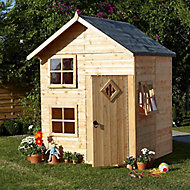 Shire 5x5 Croft Apex Shiplap Wooden Playhouse - Assembly service included
