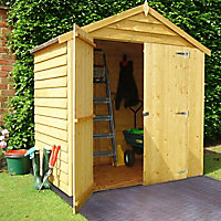 Shire 6x4 Apex Overlap Wooden Shed (Base included)