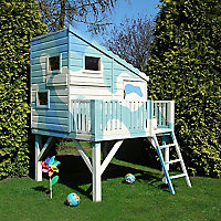Shire 6x4 Command Post Pent Shiplap Wooden Playhouse - Assembly service included