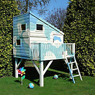 Shire 6x4 Command Post Wooden Playhouse - Assembly service included