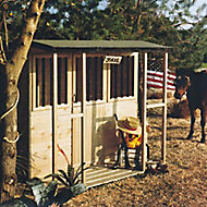Shire 6x4 Jailhouse Apex Tongue & groove Wooden Playhouse - Assembly service included