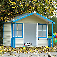Shire 6x4 Woodbury Apex Shiplap Wooden Playhouse - Assembly service included