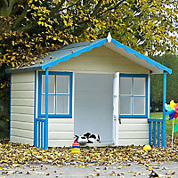 Shire 6x4 Woodbury Apex Shiplap Wooden Playhouse