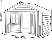 Shire 6x4 Woodbury Wooden Playhouse - Assembly service included