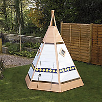 Shire 7x6 Wigwam Wooden Playhouse - Assembly service included