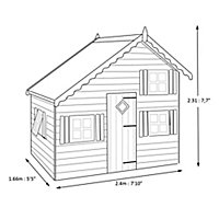 Shire 8x6 Loft Wooden Playhouse - Assembly service included