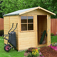 Shire Abri 7x7 Apex Shiplap Wooden Shed - Assembly service included