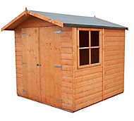 Shire Alderney 7x7 Apex Shiplap Wooden Shed (Base included)