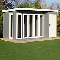 Shire Aster 12x8 Pent Shiplap Wooden Summer house - Assembly service included