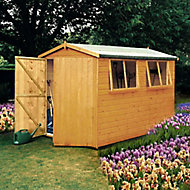 Shire Atlas 10x8 Apex Dip treated Shiplap Wooden Shed with floor