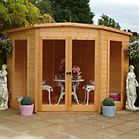 Shire Barclay 10x10 Pent Shiplap Wooden Summer house - Assembly service included