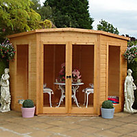 Shire Barclay 7x7 Pent Shiplap Wooden Summer house
