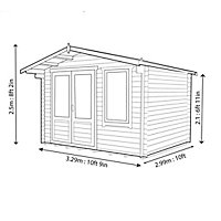 Shire Berryfield 11x8 Apex Tongue & groove Wooden Cabin