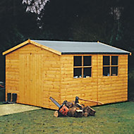 Shire Bison 14x10 Apex Shiplap Wooden Shed - Assembly service included