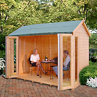 Shire Blenheim 10x8 Apex Shiplap Wooden Summer house - Assembly service included