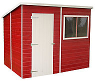Shire Caldey 8x6 Pent Dip treated Shiplap Wooden Shed with floor (Base included) - Assembly service included