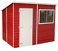 Shire Caldey 8x6 Pent Dip treated Shiplap Wooden Shed with floor