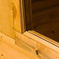 Shire Caldey 8x6 Pent Shiplap Wooden Shed