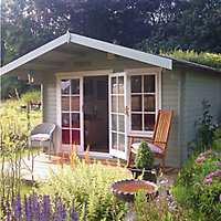 Shire Cannock 10x8 Apex Tongue & groove Wooden Cabin