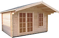 Shire Cannock 12x12 Toughened glass Apex Tongue & groove Wooden Cabin