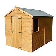 Shire Durham 8x6 Apex Dip treated Shiplap Honey brown Wooden Shed with floor - Assembly service included
