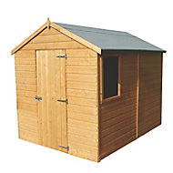 Shire Durham 8x6 Apex Dip treated Shiplap Honey brown Wooden Shed with floor