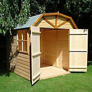 Shire Dutch 7x7 Dutch apex Dip treated Shiplap Wooden Shed with floor - Assembly service included