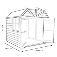 Shire Dutch 7x7 Dutch apex Shiplap Wooden Shed - Assembly service included