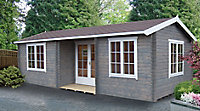 Shire Elveden 26x14 Apex Tongue & groove Wooden Cabin - Assembly service included