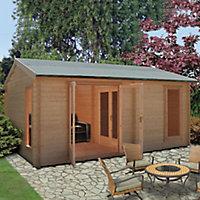 Shire Firestone 13x17 Apex Tongue & groove Wooden Cabin
