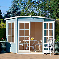 Shire Hampton 10x10 Pent Shiplap Wooden Summer house