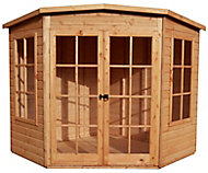 Shire Hampton 7x7 Pent Shiplap Wooden Summer house - Assembly service included