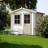 Shire Hartley 7x7 Apex Tongue & groove Wooden Cabin (Base included) - Assembly service included