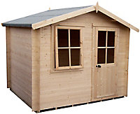 Shire Hartley 8x8 Apex Tongue & groove Wooden Cabin