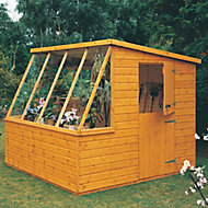 Shire Iceni 8x8 Pent Dip treated Shiplap Wooden Shed with floor - Assembly service included